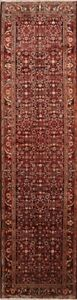 Excellent Palace Size 4x13 Wool Malayer Hamedan Oriental Runner Rug