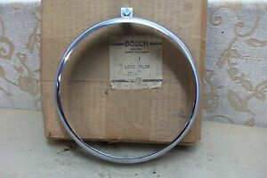 Nos Genuine Oldtimer Bosch Chrome Headlight Rim Lede 12l3z 1 305 503 004