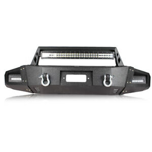 Heavy Duty Front Bumper For Ford F 150 2009 2014 W winch Plate Led Light Bar