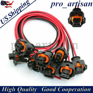 8x Fuel Injector Connector Pigtail Harness For Universal 6 6l Duramax Lly Lbz