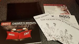 Boss V Straight Plow Installation Owners Manual Much More