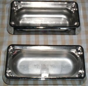 Pair Whelen Mini Intersector Chrome Warning Light Bezel Housings