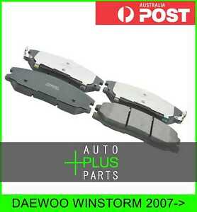 Fits Daewoo Winstorm Brake Pads Disc Brake front