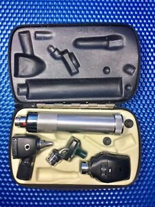 Welch Allyn Otoscope Ophthalmoscope Nasal Illuminator Diagnostic Set New Battery