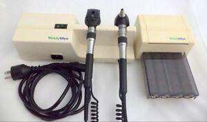 Welch Allyn Diagnostic Wall Set Otoscope Ophthalmoscope Specula Dispenser