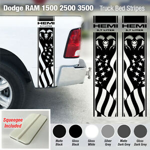 Dodge Ram 1500 2500 3500 Hemi 4x4 Decal Truck Stripe Vinyl Sticker Racing Dr1