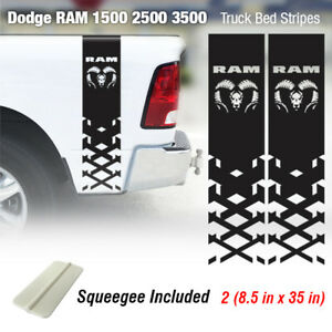 Dodge Ram 1500 2500 3500 Hemi 4x4 Decal Truck Bed Stripe Vinyl Sticker Racing 1r