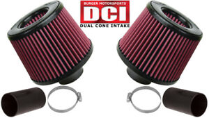 Burger Motorsports N54 Dci Dual Cone Intake Bmw 135i 335i 535i Z4 Red Filters