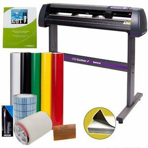 Vinyl Cutter Bundle Sign Maker Plotter Wide Printer Supplies Tools Arts Software