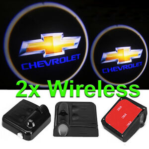 2 X Led Logo Light Ghost Shadow Projector Car Door Courtesy Laser Chevrolet
