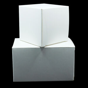 White Kraft Paper Foldable Box Souvenir Wedding Party Gift Toy Cardboard Package