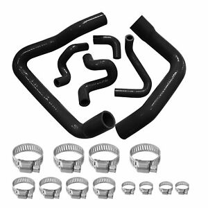For 86 93 Ford Mustang Gt Cobra V8 5 0l Radiator Hose Kit Black Silicone