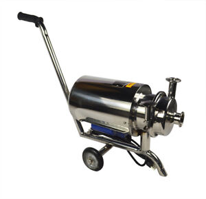 Movable Centrifugal Pump Sanitary Beverage Pump 3 Ton 110v 750w 304 Stainless