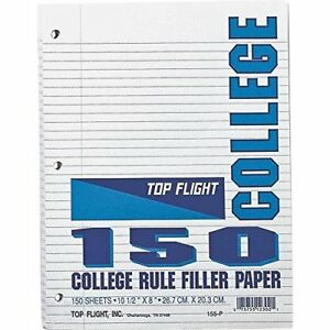 Filler Paper College Rule 150c