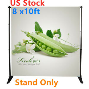 Us Stock 8 X10ft Step And Repeat Adjustable Backdrop Telescopic Banner Stand