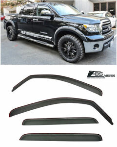 For 07 18 Toyota Tundra Pick Up Truck Crew Cab In channel Side Eos Window Visors