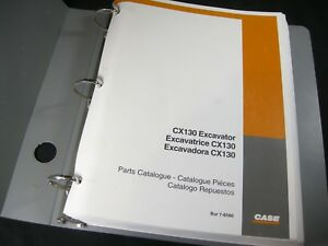 Case Cx130 Excavator Tractor Part Manual Catalog Book Cx 130 Bur 76580 In Binder