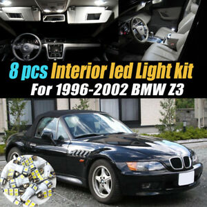 8pc Super White 6000k Car Interior Led Light Bulb Kit For 1996 2002 Bmw Z3