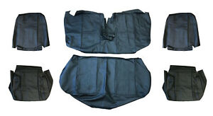 Volvo 240 Sedan Black Leather Seat Cover Upholstery Complete Set 1986 1993