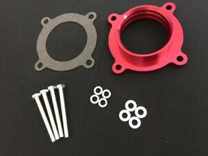 Red Billet Aluminum Throttle Body Spacer For 2007 11 Jeep Wrangler 3 8l V6