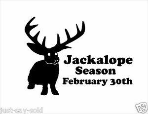 Jackalope Hunting Season Set Of 2 Vinyl Decal Window Sticker Select Color