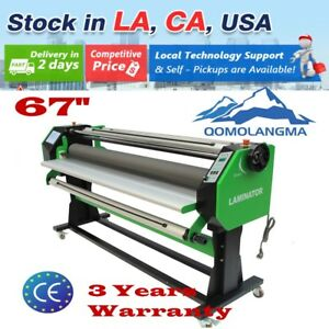 Us Stock 110v 67 Stand Frame Full auto Wide Format Hot cold Laminator One Side