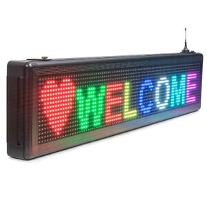 P10 Smd Outdoor Waterproof Rgb Full Color Led Display Sign Ios Wifi Programmable