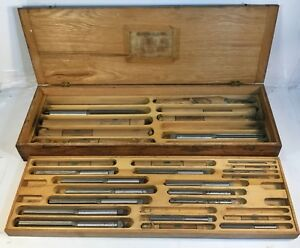 Rare Vintage L o Beard Tool Company Straight Flute Hand Reamers 1 4 To 1 1 4