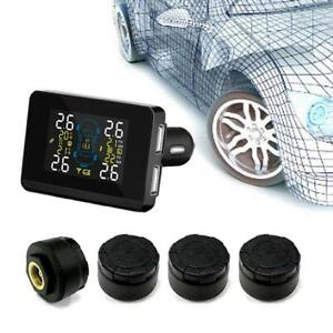 Car Wireless Tpms Tire Pressure Monitoring System 4 External Sensors Universal