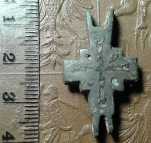 Ancient Bronze Cross Encolpions 9th To The Mid 13th Century