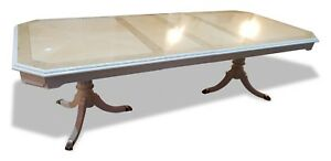 Stunning Designer Art Deco Style Maple Burr Ash Dining Table French Polished