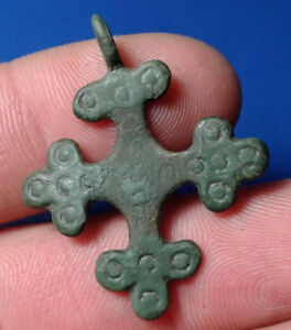 Ancient Bronze Cross 9th To The Mid 13th Century Very Rare