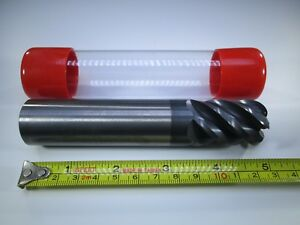 Cid Carbide 1 Inch End Mill 300 Radius Hard Steel Milling Machinist Tool Bit