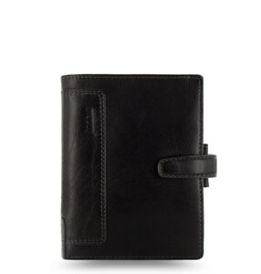 Filofax Pocket Size Holborn Organiser Planner Diary Note Leather Black 025115