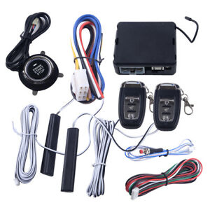 Pke Passive Keyless Entry Remote Engine Start Push Button Car Alarm System 12v