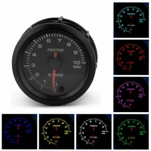 2 52mm Car Auto Tachometer Gauge Rpm Tacho Meter 7 Color Led Stepping Motor