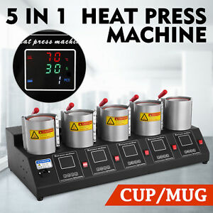 5 In 1 Digital 5 Cup Mug Heat Press Machine Commercial Sublimation Transfer