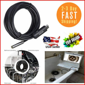 Plumbers Pipe Camera 50 Line Inspection Plumbing Video Cam Android Phones Usb