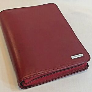 Franklin Covey Zip Organizer Planner Leather Classic Refills Log Client File