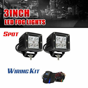 Pair 3inch Led Light Offroad Truck Pods Spot Fog Lights For Toyota Tundra