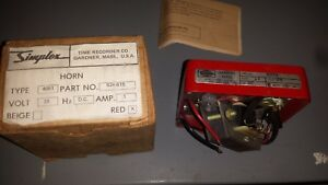 New In Box 4051 Simplex Fire Alarm Horn Vintage 3 Day Sale