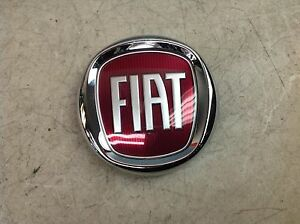 12 15 Fiat 500 Used Trunk Emblem Back Hatch Badge Chrome Red Oem