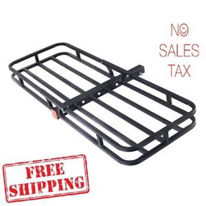 Cargo Carrier Rack Luggage Basket Hitch Hauler 2 Receiver Tow Rear Car Truck