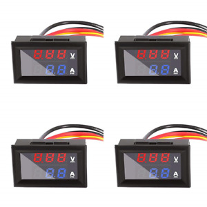 Dual Display Digital Voltmeter Ammeter Panel Aitrip 0 28 High Led pack Of 4