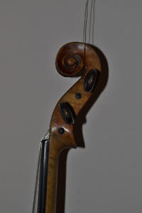 Antique French Violin 4 4 Stainer Copy Iron Stamp Inside Circa 1925 By Jtl