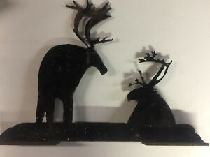 Unique Vintage 21 Long 1 4 Metal Moose Fireplace Mantle Cabin Decoration