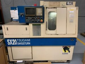Cnc Swiss Screw Machine Tsugami Bs20b sx20 Turn Sx Series Fanuc Lns Bar Feed