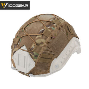 IDOGEAR Tactical Helmet Cover for FAST Helmet Camo Hunting Airsoft Headwear Gear