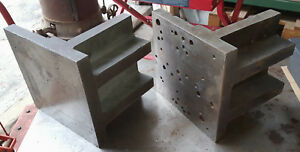 2 Iron Right Angle Plates Set up Fixture For Grinder Milling Machine Drilling
