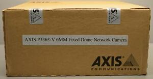Axis P3363 v 6mm Fixed Dome Network Camera Model 0508 001 New